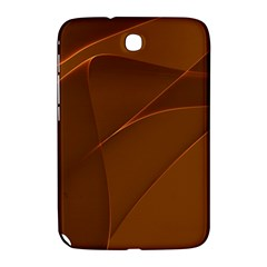 Brown Background Waves Abstract Brown Ribbon Swirling Shapes Samsung Galaxy Note 8 0 N5100 Hardshell Case
