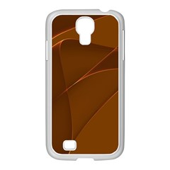 Brown Background Waves Abstract Brown Ribbon Swirling Shapes Samsung Galaxy S4 I9500/ I9505 Case (white)