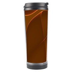 Brown Background Waves Abstract Brown Ribbon Swirling Shapes Travel Tumbler