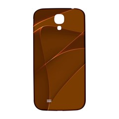 Brown Background Waves Abstract Brown Ribbon Swirling Shapes Samsung Galaxy S4 I9500/i9505  Hardshell Back Case