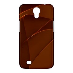 Brown Background Waves Abstract Brown Ribbon Swirling Shapes Samsung Galaxy Mega 6.3  I9200 Hardshell Case