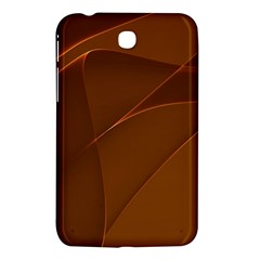 Brown Background Waves Abstract Brown Ribbon Swirling Shapes Samsung Galaxy Tab 3 (7 ) P3200 Hardshell Case