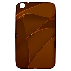 Brown Background Waves Abstract Brown Ribbon Swirling Shapes Samsung Galaxy Tab 3 (8 ) T3100 Hardshell Case