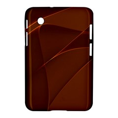Brown Background Waves Abstract Brown Ribbon Swirling Shapes Samsung Galaxy Tab 2 (7 ) P3100 Hardshell Case