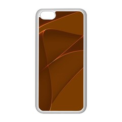 Brown Background Waves Abstract Brown Ribbon Swirling Shapes Apple iPhone 5C Seamless Case (White)