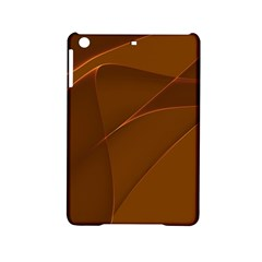 Brown Background Waves Abstract Brown Ribbon Swirling Shapes iPad Mini 2 Hardshell Cases