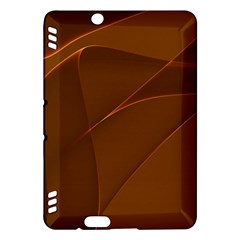 Brown Background Waves Abstract Brown Ribbon Swirling Shapes Kindle Fire Hdx Hardshell Case
