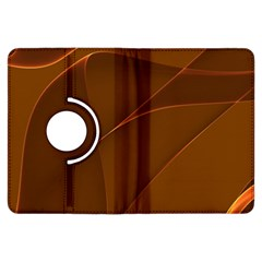 Brown Background Waves Abstract Brown Ribbon Swirling Shapes Kindle Fire Hdx Flip 360 Case