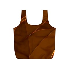 Brown Background Waves Abstract Brown Ribbon Swirling Shapes Full Print Recycle Bags (s)