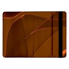 Brown Background Waves Abstract Brown Ribbon Swirling Shapes Samsung Galaxy Tab Pro 12 2  Flip Case