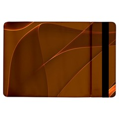 Brown Background Waves Abstract Brown Ribbon Swirling Shapes iPad Air Flip
