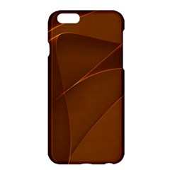 Brown Background Waves Abstract Brown Ribbon Swirling Shapes Apple Iphone 6 Plus/6s Plus Hardshell Case