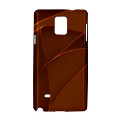 Brown Background Waves Abstract Brown Ribbon Swirling Shapes Samsung Galaxy Note 4 Hardshell Case