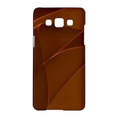 Brown Background Waves Abstract Brown Ribbon Swirling Shapes Samsung Galaxy A5 Hardshell Case