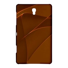 Brown Background Waves Abstract Brown Ribbon Swirling Shapes Samsung Galaxy Tab S (8.4 ) Hardshell Case