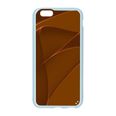 Brown Background Waves Abstract Brown Ribbon Swirling Shapes Apple Seamless iPhone 6/6S Case (Color)