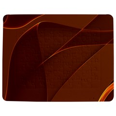 Brown Background Waves Abstract Brown Ribbon Swirling Shapes Jigsaw Puzzle Photo Stand (Rectangular)