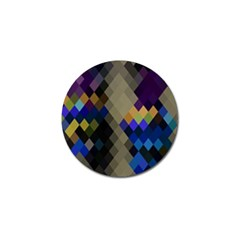 Background Of Blue Gold Brown Tan Purple Diamonds Golf Ball Marker