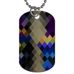 Background Of Blue Gold Brown Tan Purple Diamonds Dog Tag (Two Sides)