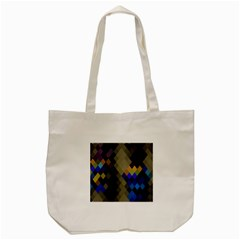 Background Of Blue Gold Brown Tan Purple Diamonds Tote Bag (cream)