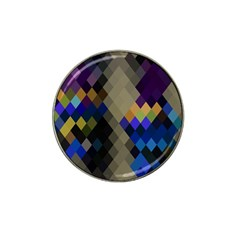 Background Of Blue Gold Brown Tan Purple Diamonds Hat Clip Ball Marker (10 pack)