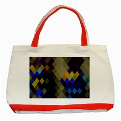 Background Of Blue Gold Brown Tan Purple Diamonds Classic Tote Bag (red)