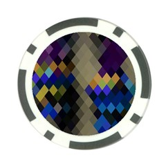 Background Of Blue Gold Brown Tan Purple Diamonds Poker Chip Card Guard