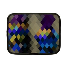 Background Of Blue Gold Brown Tan Purple Diamonds Netbook Case (small)