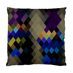 Background Of Blue Gold Brown Tan Purple Diamonds Standard Cushion Case (two Sides)