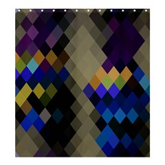 Background Of Blue Gold Brown Tan Purple Diamonds Shower Curtain 66  x 72  (Large)