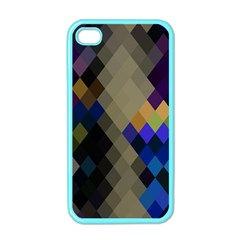 Background Of Blue Gold Brown Tan Purple Diamonds Apple iPhone 4 Case (Color)