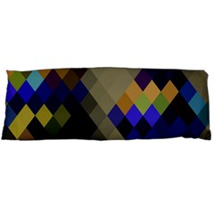 Background Of Blue Gold Brown Tan Purple Diamonds Body Pillow Case Dakimakura (Two Sides)