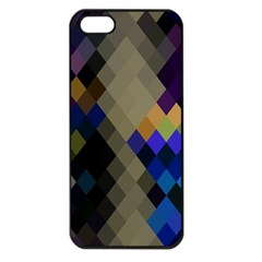 Background Of Blue Gold Brown Tan Purple Diamonds Apple Iphone 5 Seamless Case (black)