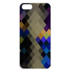Background Of Blue Gold Brown Tan Purple Diamonds Apple Iphone 5 Seamless Case (white)