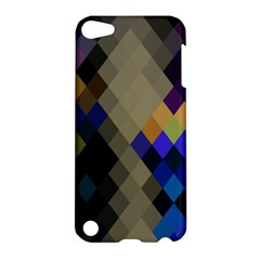 Background Of Blue Gold Brown Tan Purple Diamonds Apple Ipod Touch 5 Hardshell Case