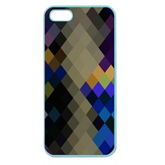 Background Of Blue Gold Brown Tan Purple Diamonds Apple Seamless Iphone 5 Case (color)