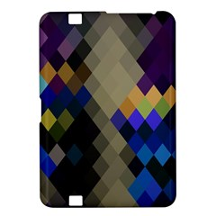 Background Of Blue Gold Brown Tan Purple Diamonds Kindle Fire Hd 8 9