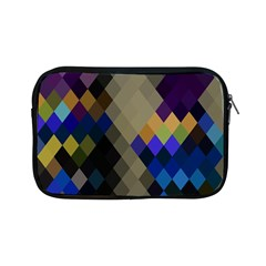 Background Of Blue Gold Brown Tan Purple Diamonds Apple Ipad Mini Zipper Cases