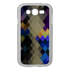 Background Of Blue Gold Brown Tan Purple Diamonds Samsung Galaxy Grand Duos I9082 Case (white)