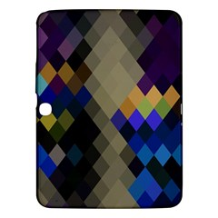 Background Of Blue Gold Brown Tan Purple Diamonds Samsung Galaxy Tab 3 (10 1 ) P5200 Hardshell Case