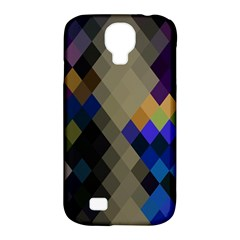 Background Of Blue Gold Brown Tan Purple Diamonds Samsung Galaxy S4 Classic Hardshell Case (pc+silicone)