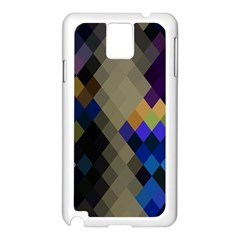 Background Of Blue Gold Brown Tan Purple Diamonds Samsung Galaxy Note 3 N9005 Case (white)