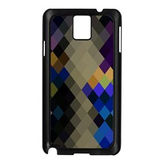 Background Of Blue Gold Brown Tan Purple Diamonds Samsung Galaxy Note 3 N9005 Case (black)