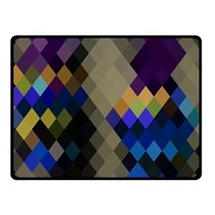 Background Of Blue Gold Brown Tan Purple Diamonds Double Sided Fleece Blanket (small)