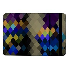 Background Of Blue Gold Brown Tan Purple Diamonds Samsung Galaxy Tab Pro 10 1  Flip Case