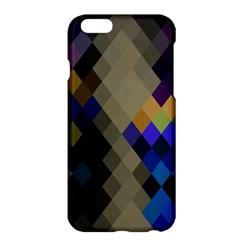 Background Of Blue Gold Brown Tan Purple Diamonds Apple Iphone 6 Plus/6s Plus Hardshell Case