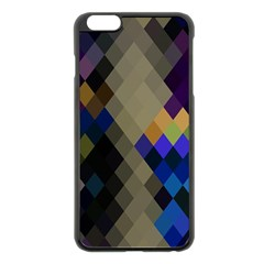 Background Of Blue Gold Brown Tan Purple Diamonds Apple iPhone 6 Plus/6S Plus Black Enamel Case