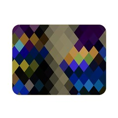 Background Of Blue Gold Brown Tan Purple Diamonds Double Sided Flano Blanket (Mini)