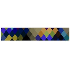 Background Of Blue Gold Brown Tan Purple Diamonds Flano Scarf (large)