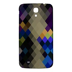 Background Of Blue Gold Brown Tan Purple Diamonds Samsung Galaxy Mega I9200 Hardshell Back Case